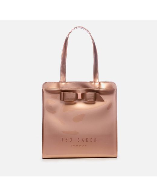 5402be64cb06d2 Ted Baker - Pink Arycon Bow Detail Small Icon Bag - Lyst ...