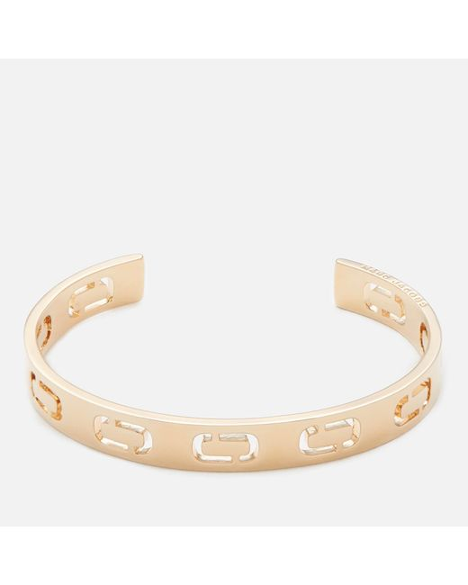 Marc Jacobs - Metallic Icon Cuff Bracelet - Lyst