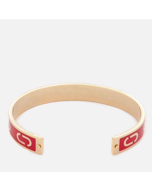 Marc Jacobs - Multicolor Double J Enamel Cuff Bracelet - Lyst
