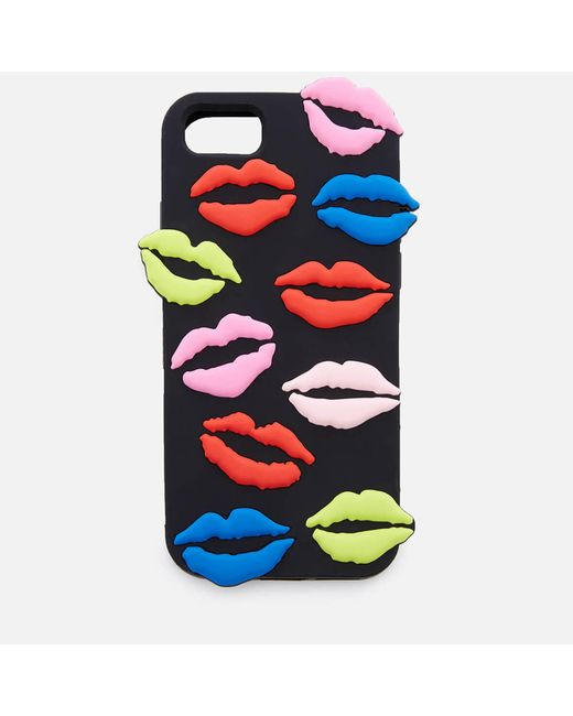 Lulu Guinness - Multicolor Lip Blot Iphone 6/7/8 Case - Lyst
