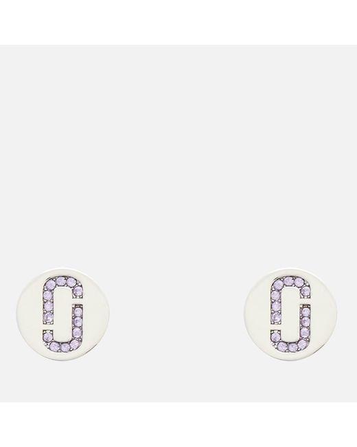 Marc Jacobs - Multicolor Double J Pave Studs - Lyst