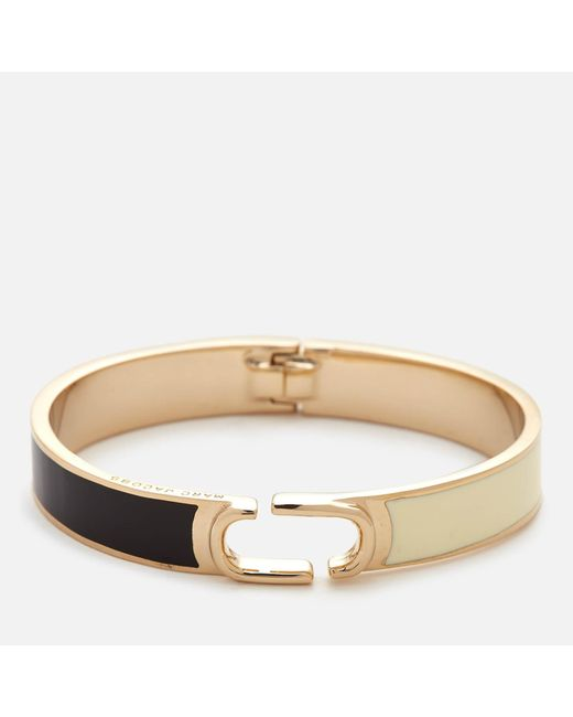 Marc Jacobs | Multicolor Icon Enamel Colour Block Hinge Bracelet | Lyst