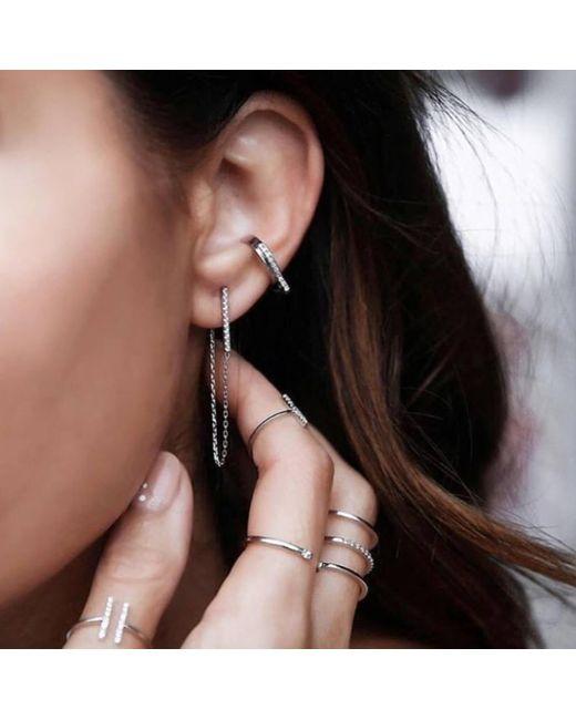 b9445e2a6 ... Astrid & Miyu - Multicolor Blurred Lines Earrings - Lyst