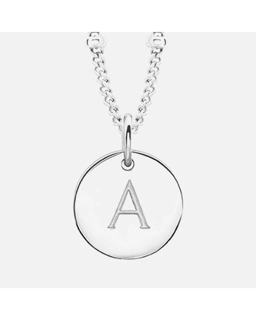 Missoma - Metallic Initial Charm Necklace - Lyst