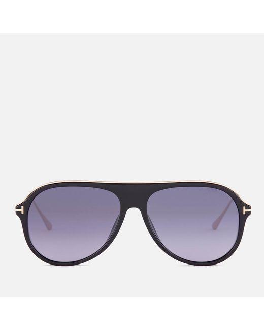7658c2507bf Tom Ford - Multicolor Nicholai Aviator Sunglasses for Men - Lyst ...