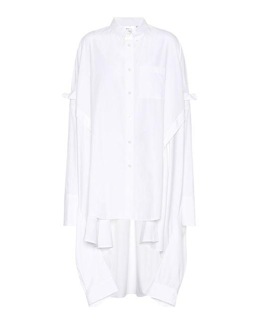 Helmut Lang - White Poncho Cotton Shirt - Lyst