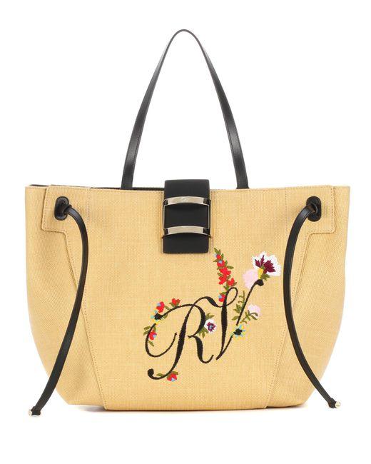 Roger Vivier - Natural Viv' Rv Logo Flower Tote - Lyst