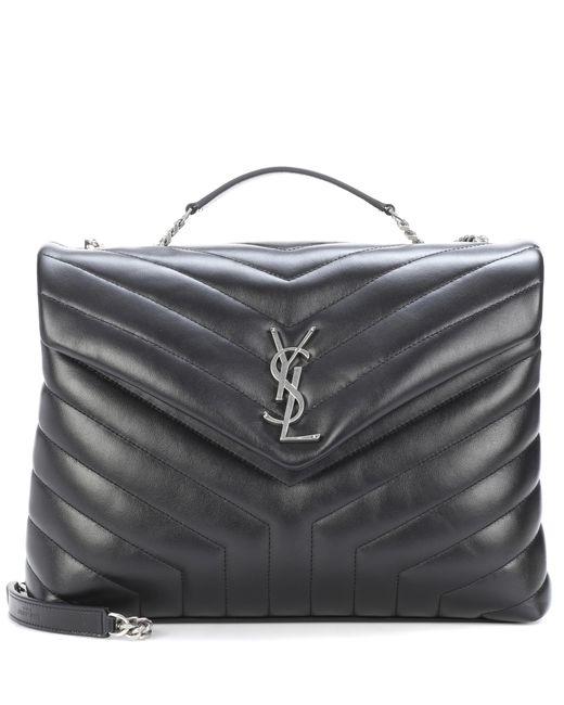 Saint Laurent - Black Medium Loulou Monogram Shoulder Bag - Lyst