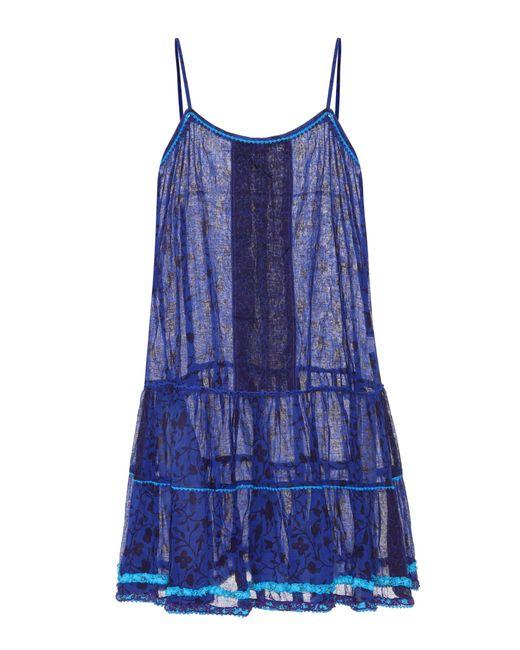 Poupette | Blue Printed Cotton Dress | Lyst