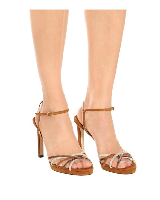0f1ba91a49 ... Jimmy Choo - Multicolor Lilah 100 Suede Sandals - Lyst
