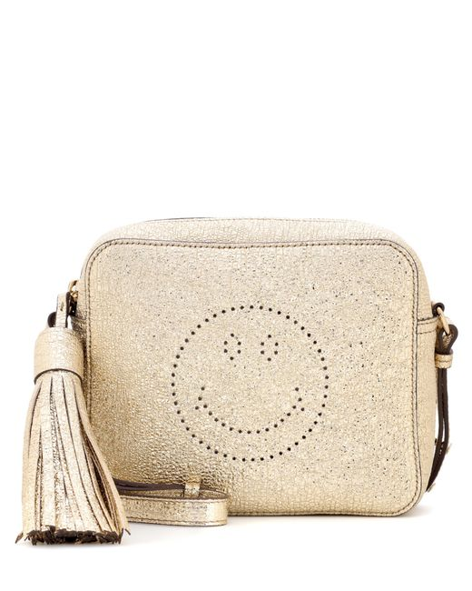 Anya Hindmarch | Smiley Metallic Leather Crossbody | Lyst