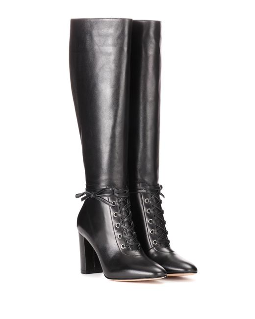 Gianvito Rossi - Black Knee-high Leather Boots - Lyst