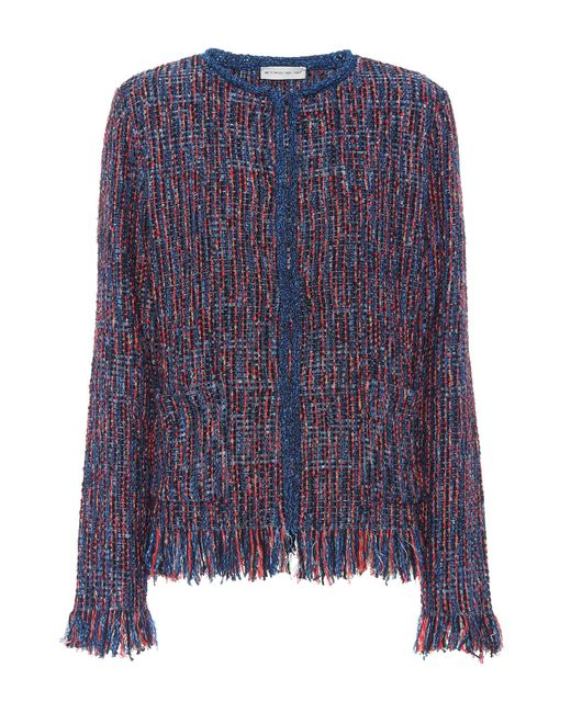 Etro - Blue Metallic Tweed Jacket - Lyst