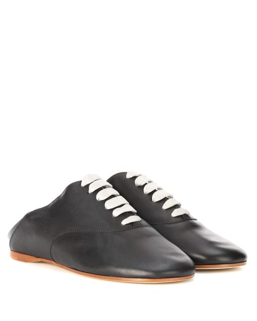 Acne | Black Mika Leather Shoes | Lyst