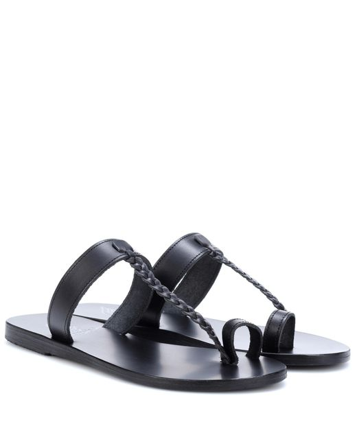 Ancient Greek Sandals - Black Melpomeni Leather Sandals - Lyst