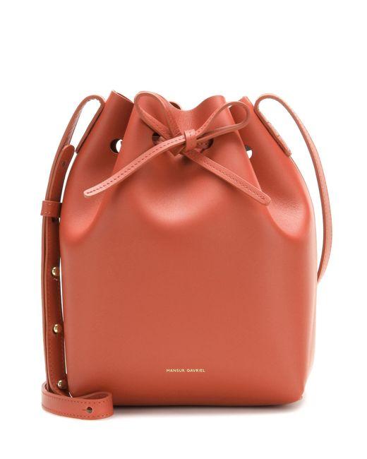 Mansur Gavriel - Brown Mini Bucket Shoulder Bag - Lyst