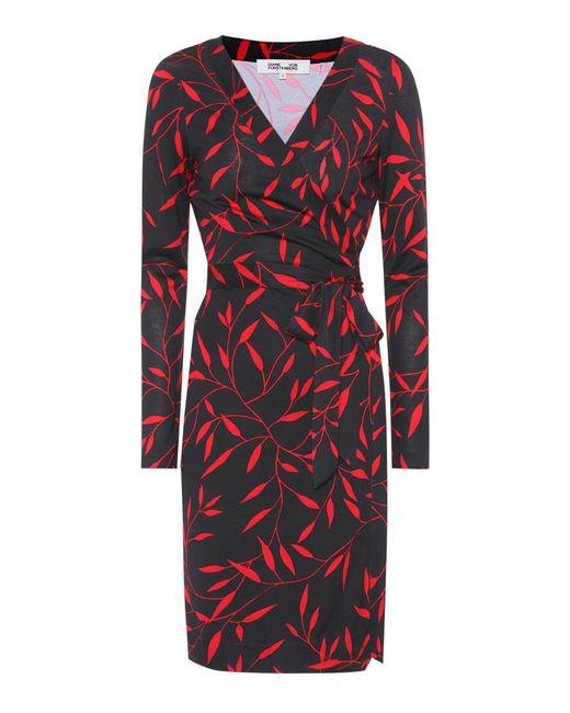 Diane von Furstenberg | Red Julian Printed Silk Wrap Dress | Lyst