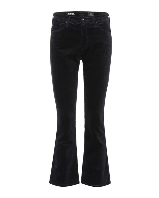 AG Jeans | Black The Jodi Crop Velveteen Jeans | Lyst