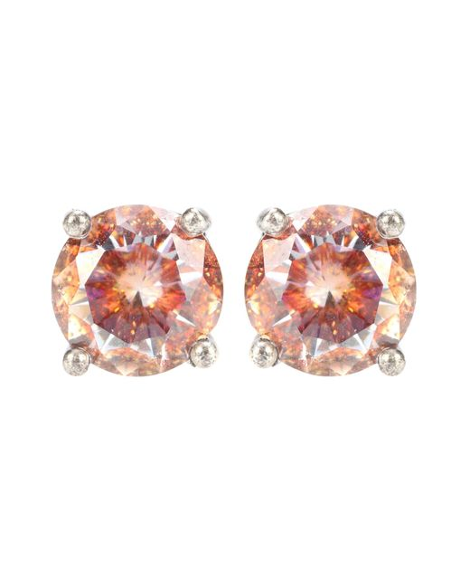 Bottega Veneta - Metallic Cubic Zirconia And Silver Earrings - Lyst