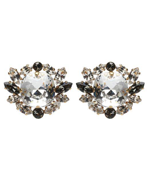 Dolce & Gabbana - Metallic Crystal Clip-on Earrings - Lyst