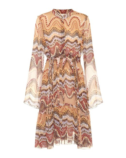 Chloé - Multicolor Exclusive To Mytheresa. Com – Printed Silk-crepon Dress - Lyst