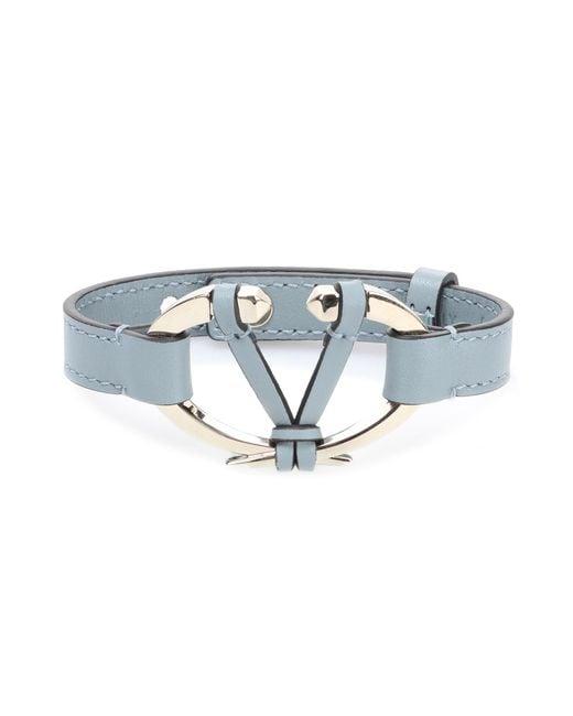 Valentino | Blue Garavani Leather Bracelet | Lyst