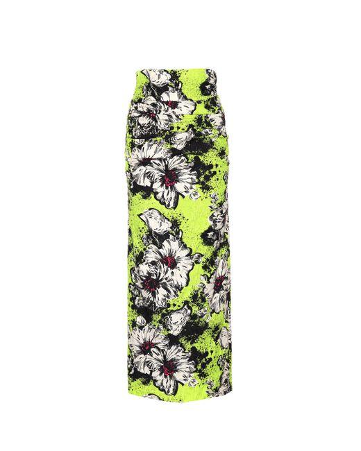 Miu Miu - Multicolor Floral Cloqué Skirt - Lyst