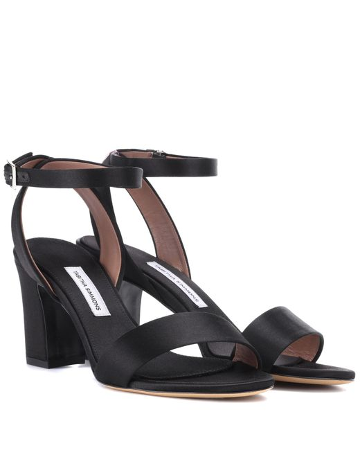 Tabitha Simmons - Black Leticia Satin Sandals - Lyst