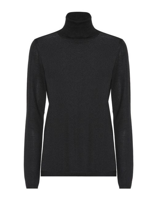 Brunello Cucinelli - Black Cashmere And Silk Sweater - Lyst