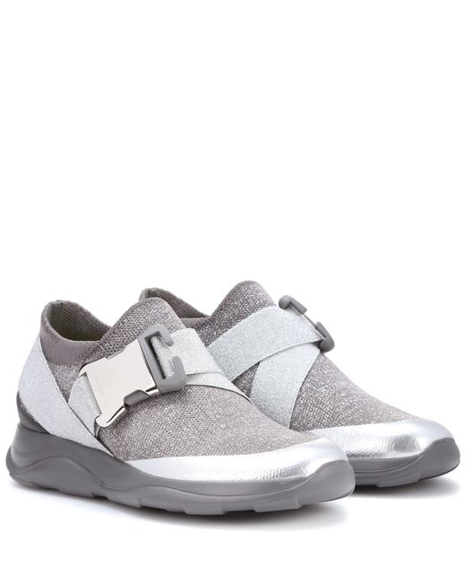 Christopher Kane - Metallic Safety Buckle Sneakers - Lyst