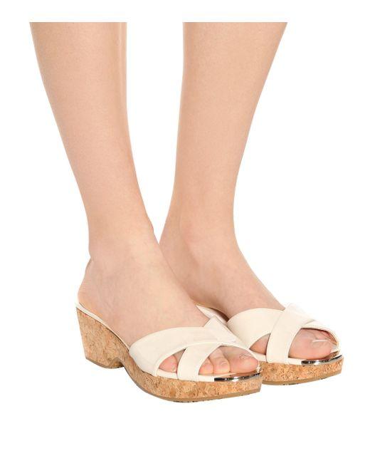 fff05961f70dd ... Jimmy Choo - Multicolor Panna Patent Leather Sandals - Lyst