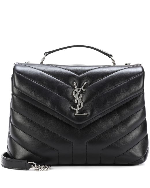 Saint Laurent - Black Small Loulou Monogram Shoulder Bag - Lyst