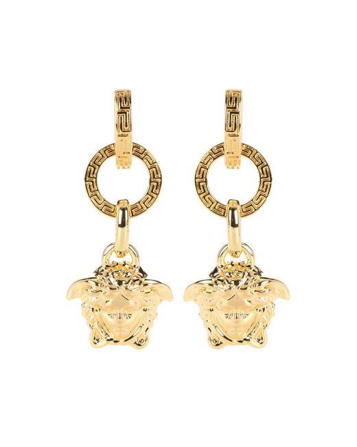 Versace - Metallic Medusa Earrings - Lyst