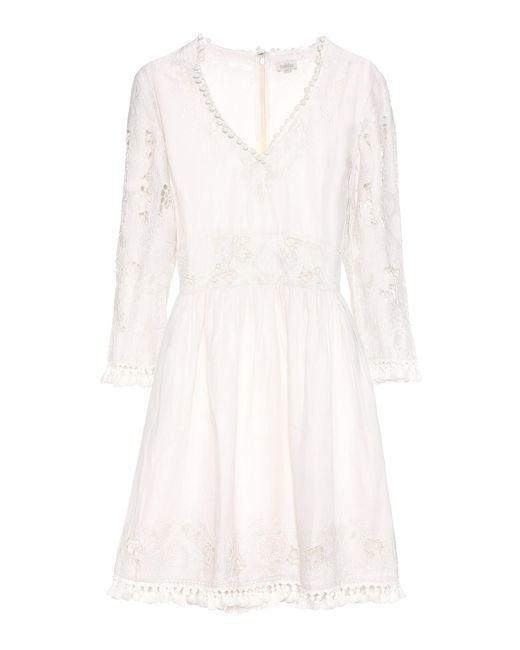 Talitha - White Cotton Dress - Lyst