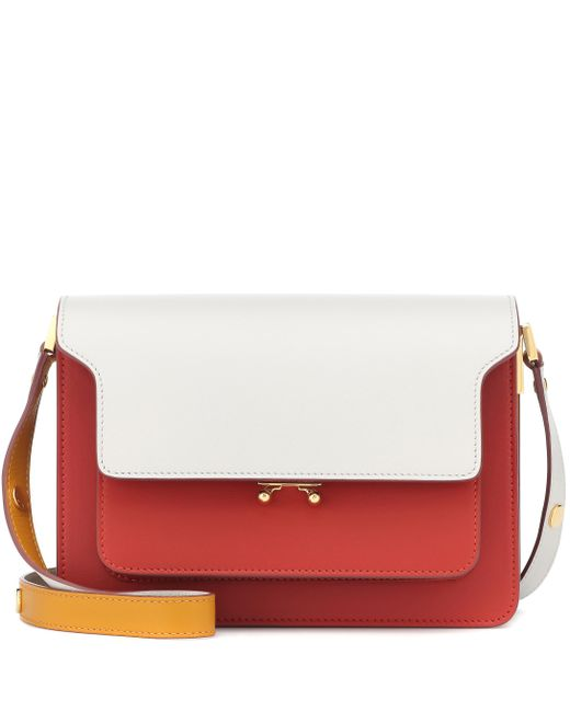 6185eb91996 Marni - Red Trunk Leather Shoulder Bag - Lyst ...