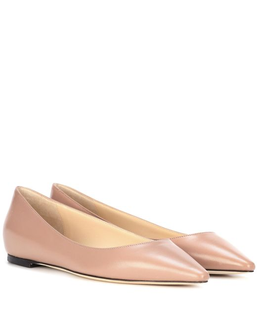 Jimmy Choo - Multicolor Romy Flat Leather Ballerinas - Lyst