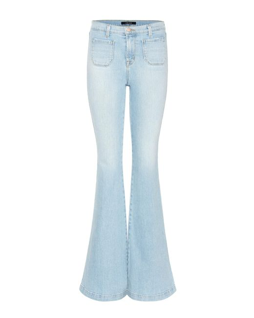 J Brand | Blue Beach Line High-rise Flared Jeans | Lyst