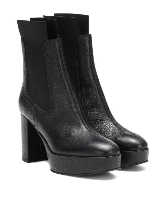 25e98bafb32e Lyst - Acne Studios Leather Ankle Boots in Black