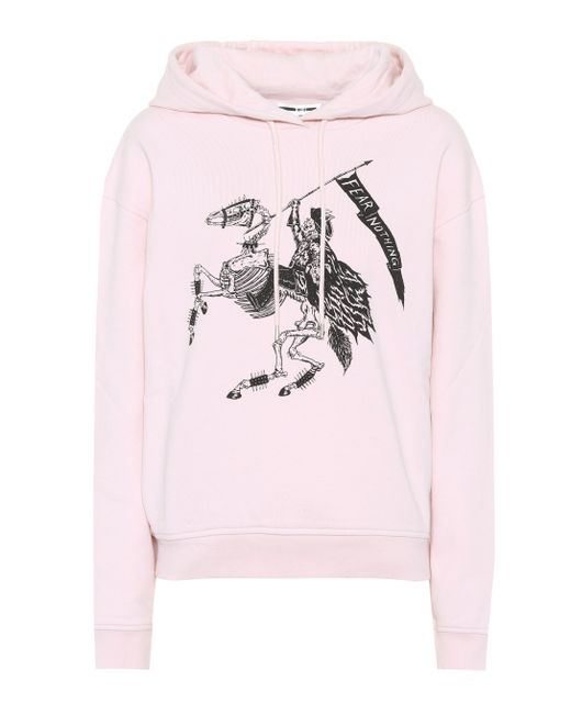 McQ Alexander McQueen - Pink Fear Nothing Cotton Hoodie - Lyst