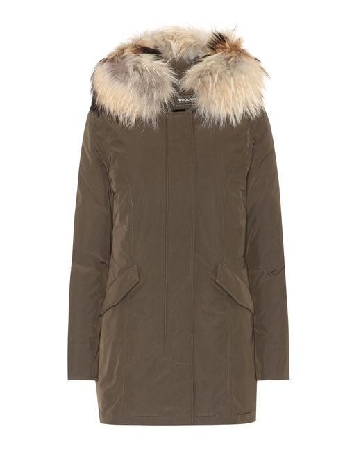 Woolrich | Green Luxury Arctic Down Coat | Lyst