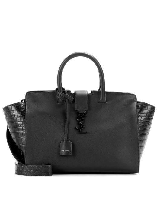 Saint Laurent | Black Monogram Downtown Small Leather Handbag | Lyst