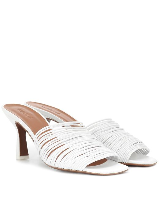 Neous - White Shom Leather Sandals - Lyst
