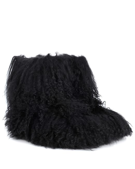 Ugg - Black Fluff Momma Shearling Ankle Boots - Lyst