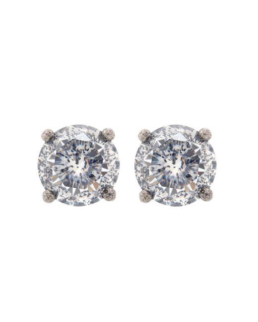 Bottega Veneta - Metallic Cubic Zirconia Earrings - Lyst
