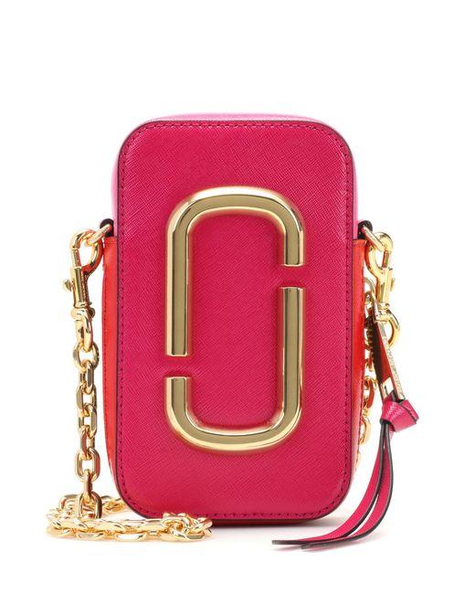 Marc Jacobs - Pink Hot Shot Leather Shoulder Bag - Lyst