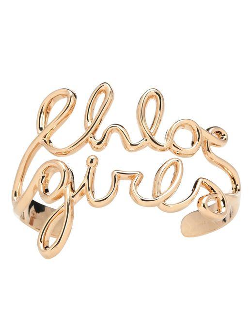 Chloé - Metallic Golden Bracelet - Lyst