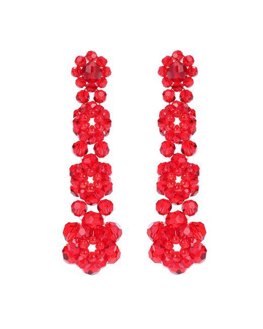 Simone Rocha   Red Crystal Earrings   Lyst