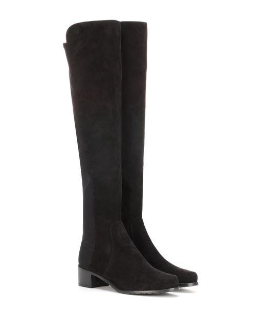 Stuart Weitzman - Black Reserve Suede Knee-high Boots - Lyst