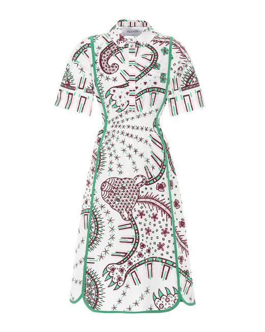Valentino - Multicolor Printed Cotton Dress - Lyst