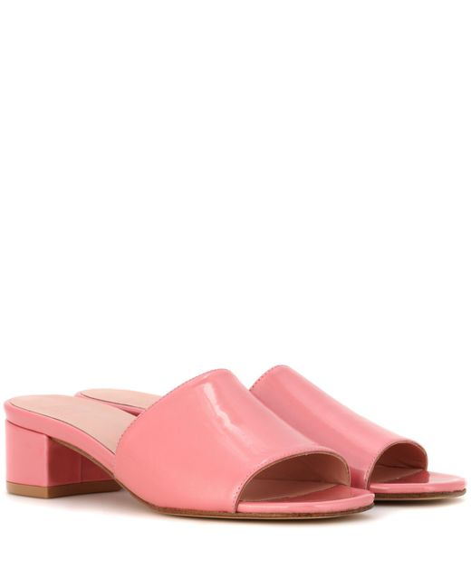 Maryam Nassir Zadeh | Pink Sophie Patent Leather Sandals | Lyst